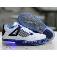 Cheap Clearance Air Jordan 4 Iv Retro 2012 New Lightening Mens Shoes White Blue