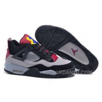 Cheap Closeout Nike Air Jordan Iv 4 Gs Retro 7lab4 Mens Shoes Gray Black Red Purple Yellow