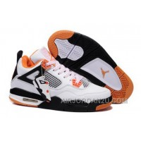 Discount Netherlands 2013 New Nike Air Jordan 4 Iv Mens Shoes White Orange