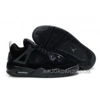 Cheap New Air Jordan 4 Iv Retro Mens Shoes Fur Winter Black Online Outlet For Sale