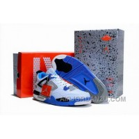 Buy 2012 Air Jordan 4 Iv Retro Mens Shoes Limited Edition White Blue Outlet For Sale