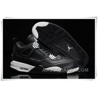 New Arrival Usa Nike Air Jordan Iv 4 Retro Mens Shoes New Black White