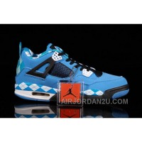 New Arrival France 2014 New Nike Air Jordan Iv 4 Retro Mens Shoes Free Blue