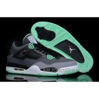 Discount Code For 2014 Nike Air Jordan 4 Iv Retro New Release Shoes Grey Green Online
