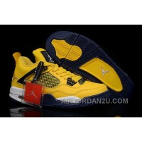 Get New Style Nike Air Jordan 4 Iv Mens Shoes Yellow Outlet Hot