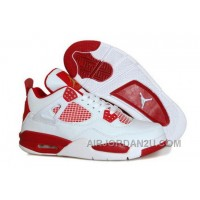 Discount Code For Nike Air Jordan Iv 4 Retro Mens Shoes New Hot White Peach Red Discount