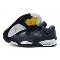 Low Price New Air Jordan 4 Iv Retro Mens Shoes Fur Winter Grey Yellow Discount