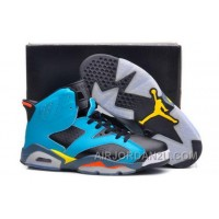 Cheap Discount Code For Nike Air Jordan Vi 6 Retro Mens Shoes New Releases All Blue Yellow Hot