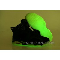 Low Cost Nike Air Jordan Vi 6 Retro Menss Shoes Glow In The Night Black Green White Cheap