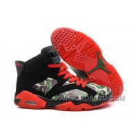 Purchase Nike Air Jordan Vi 6 Retro Mens Shoes Online New Black Red Green China Cheap