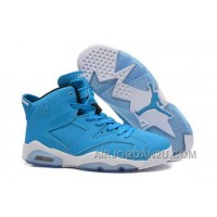 Coupon Code For Nike Air Jordan Vi 6 Retro Mens Shoes New Releases All Blue White Hot New Arrival