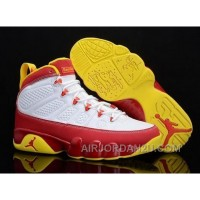 Cheap Discount Code For Chrismas Gift Edition Air Jordan 9 Ix Retro Mens Shoes Online Discount Red White Yellow
