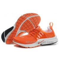 820-998380 Nike Air Presto Women Orange/White/Black Authentic NYCrG