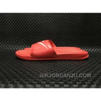 NIKE Benassi Swoosh GD 312618-066 Red Men Slides New Release Dfsbcba