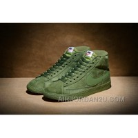 NIKE BLAZER High PRM VNTG 518171 Pig Leather Men Green Top Deals