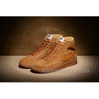 NIKE BLAZER High PRM VNTG 518171 Pig Leather Men Brown Christmas Deals