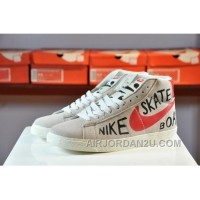 NIKE Blazer High Women Girl Genuine Leather Sneaker 2017 New Lastest