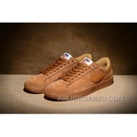 NIKE BLAZER LOW PRM VNTG 443903 Pig Leather Men Brown Super Deals