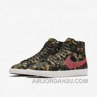 NIKE BLAZER MID JACQUARD 2017 Spring New 807382-201 Women Black Red Discount DZTKP6r
