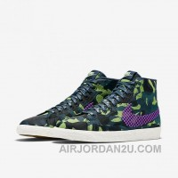 NIKE BLAZER MID JACQUARD 2017 Spring New 807382-200 Women Black Purple For Sale PmJWf5E