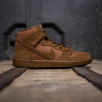 Nike Dunk High PRM Brown Ale 313171-227 Men Authentic