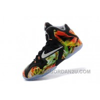 "Nike LeBron 11 ""Everglades"" Black/Metallic Silver-Wolf Grey-Atomic Mint For Sale Free Shipping ParRt"