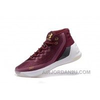 Buy Under Armour Curry Three Dark Red New Mens Shoes Super Deals NtjJZ