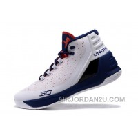 Under Armour Curry Three White Navy Blue Red Cheap New Mens Shoes Super Deals J8znR