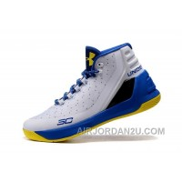 Under Armour Curry Three White Royal Blue Yellow Cheap New Mens Shoes Super Deals JtDQb