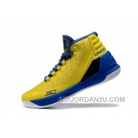 Under Armour Curry Three Yellow Blue Cheap New Mens Shoes Lastest Kdkdc