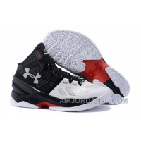 Under Armour Curry Two Custom Black White Red Sneaker Cheap To Buy YTXJf