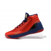 Cheap Under Armour Curry Three Red Blue New Mens Shoes Free Shipping DK5Kp