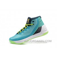 Hotsale Under Armour Curry Three Blue Green New Mens Shoes Christmas Deals CfSea