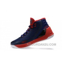 Outlet Under Armour Curry Three Red Dark Blue Sale New Mens Shoes Free Shipping Q6D7h