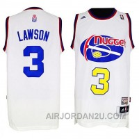 Ty Lawson Denver Nuggets #3 ABA Hardwood Classics Throwback White Jersey Online 6EE6a