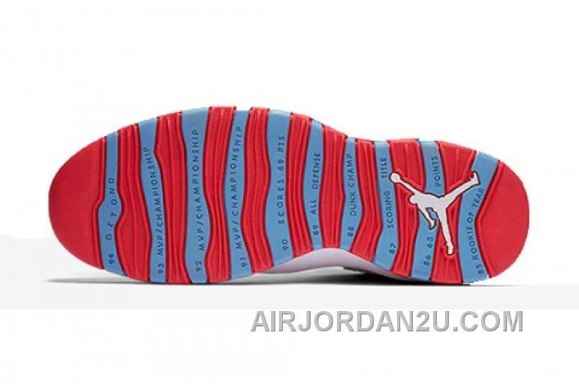 Air Jordan 10 Retro Chicago White Red Blue Cheap