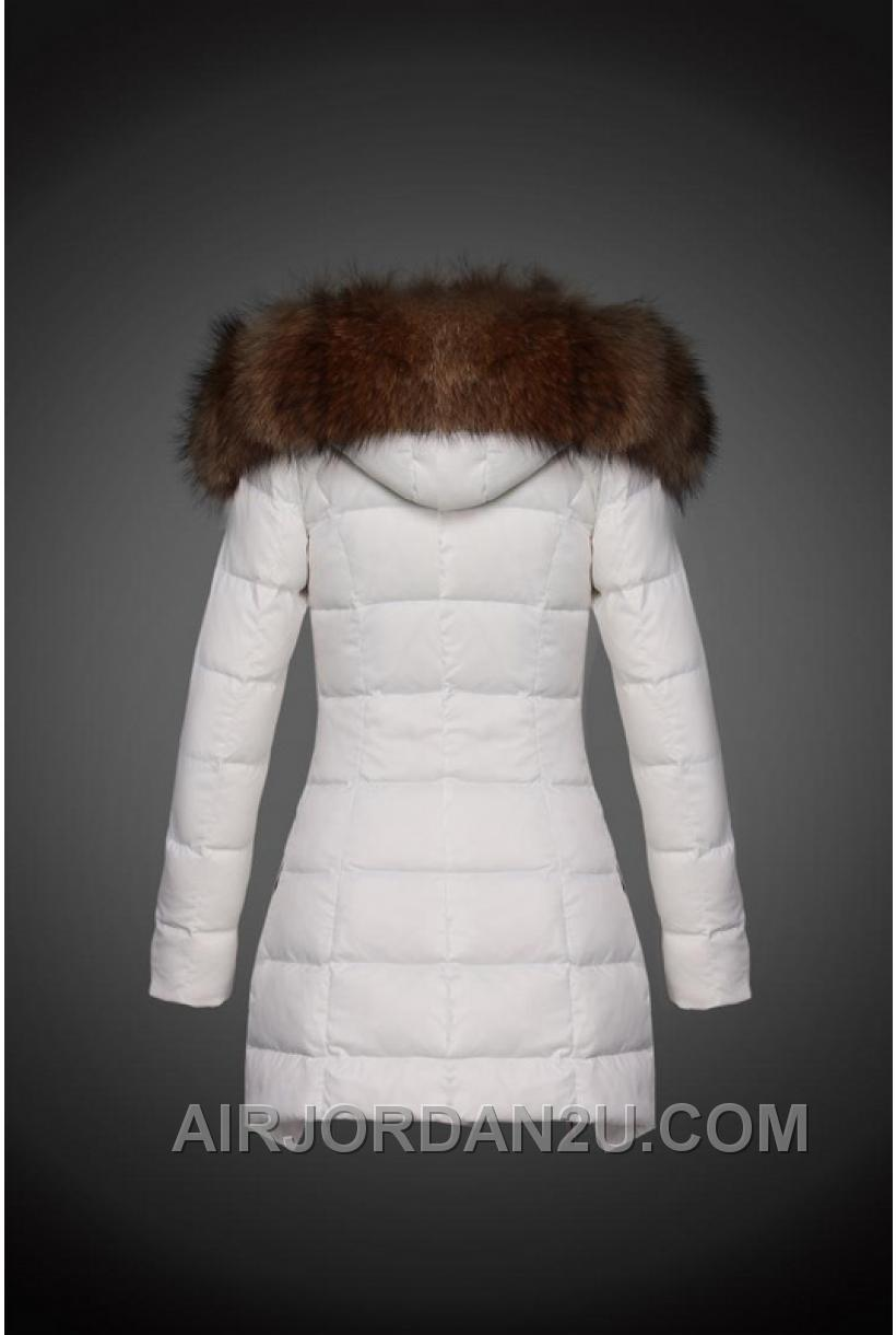 2016 Discount Moncler Down Coats Long Women White 275705