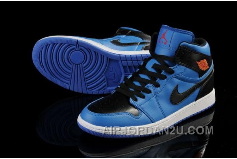 New Zealand Nike Air Jordan I 1 Retro Mens Shoes High 2014 Blue Black Online