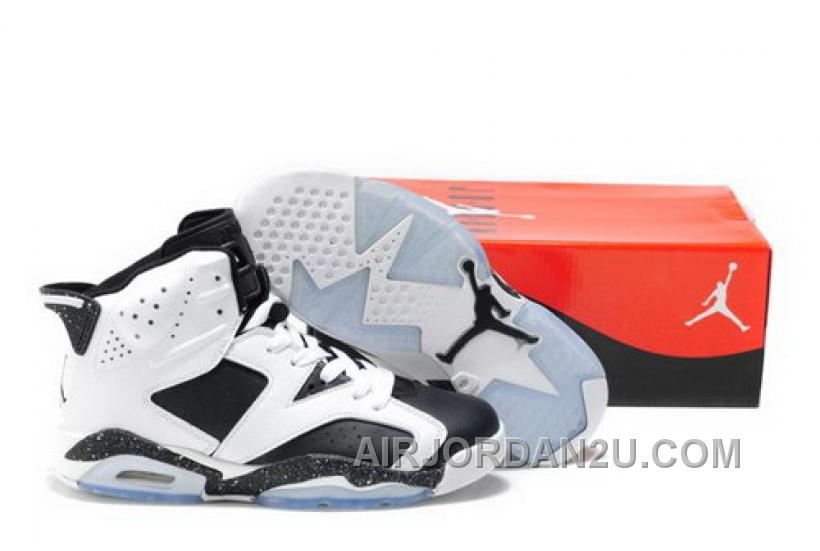 Hot Get Discout Online Air Jordan 6 Xi Mens Shoes White Black