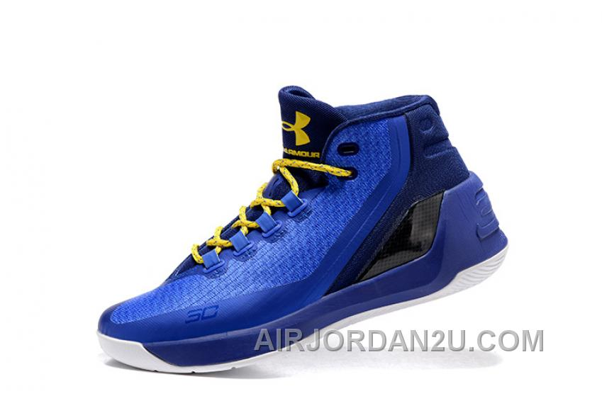 2016 Under Armour Curry Three Royal Blue New Mens Shoes Free Shipping NS8QG