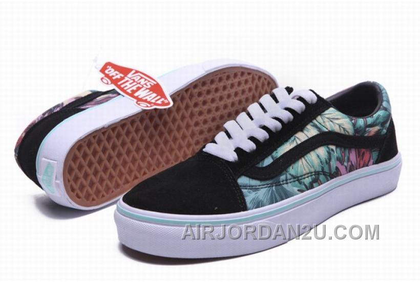 Vans Old Skool Rainforest Black Mint Green Mens Shoes Authentic Guaranteed 2016
